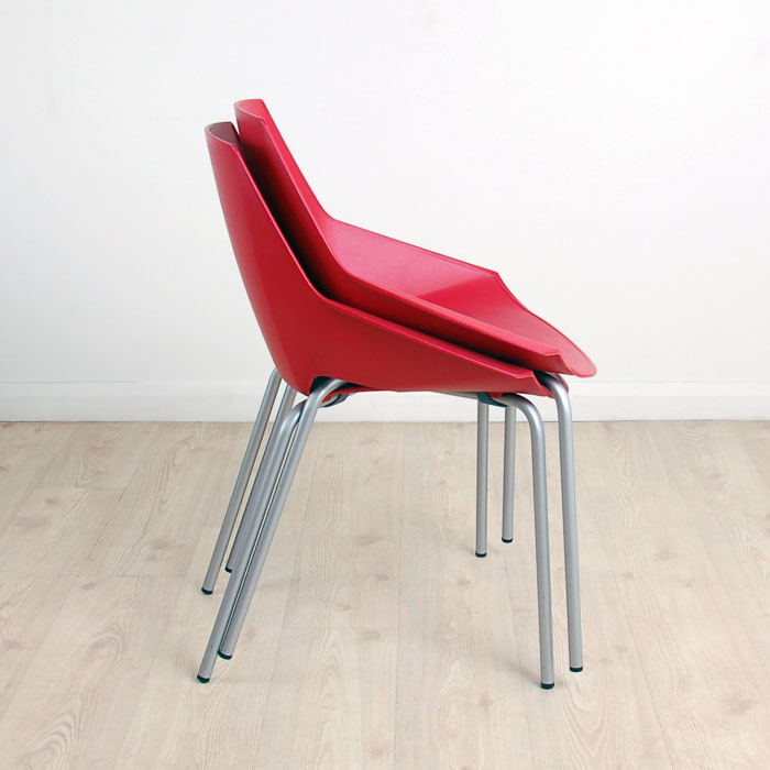 Superbe Stackable Actiu Viva Chair In Red | Red Stacking Chairs | Plastic Chairs  That Stack